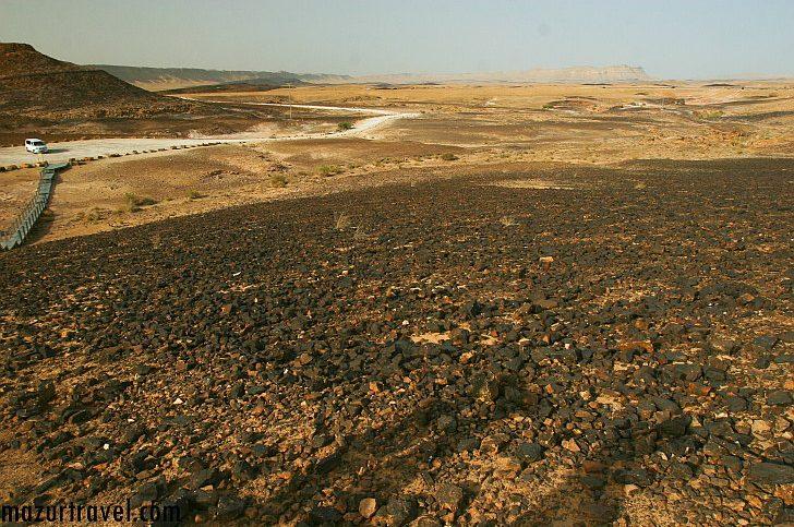 Вид на кратер Рамон