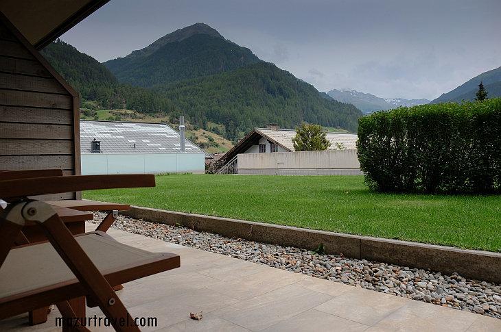 отель Bergland - вид с террасы