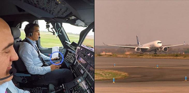 Беспилотный взлет самолета Airbus