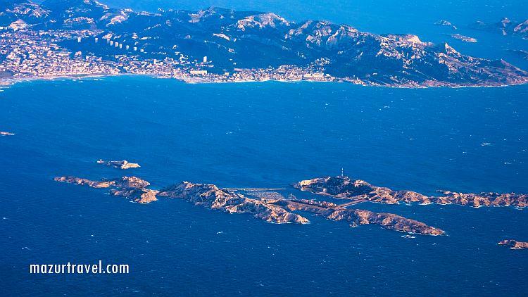 вид на Фриульские острова с воздуха