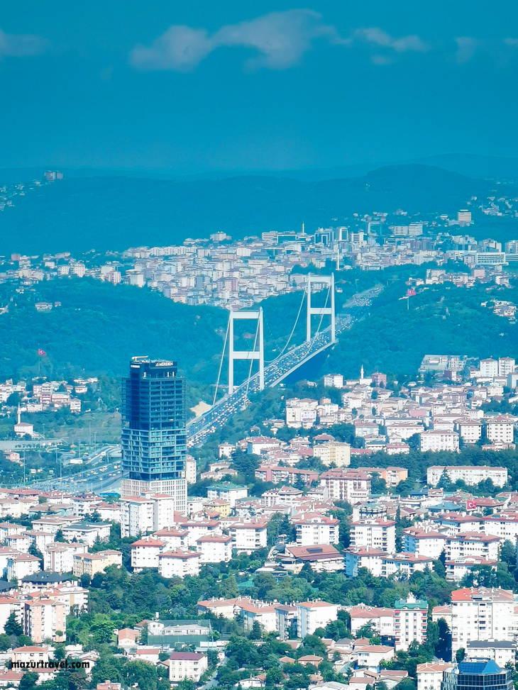 Босфорский мост с Istanbul Saphire