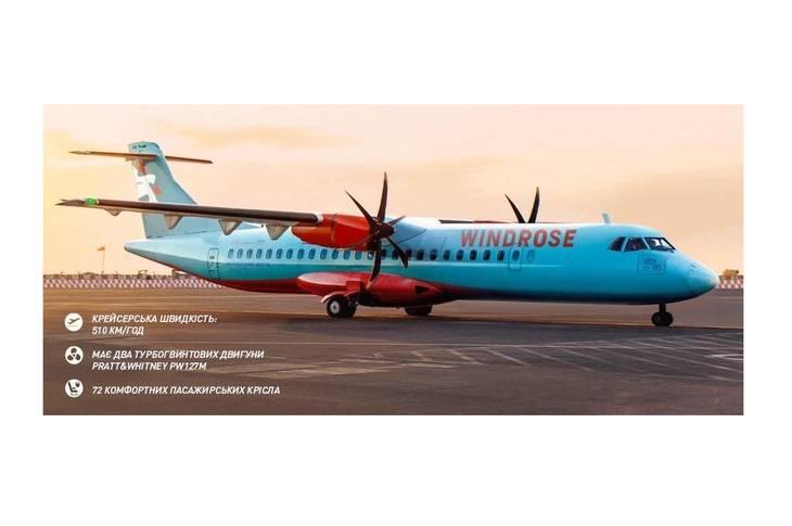 Авиакомпания WINDROSE анонсировала рейсы между городами Украины