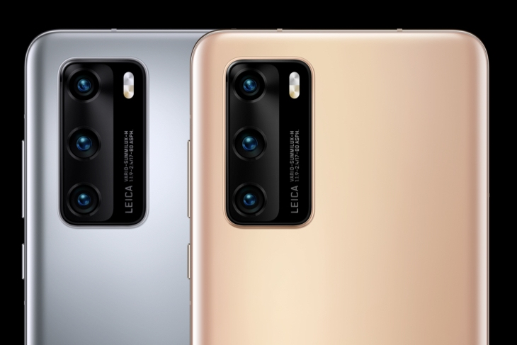 Смартфоны P40 + - вид на камеры
