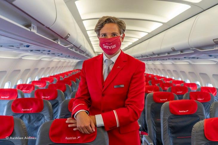 Рейсы Austrian Airlines — отныне только в маске