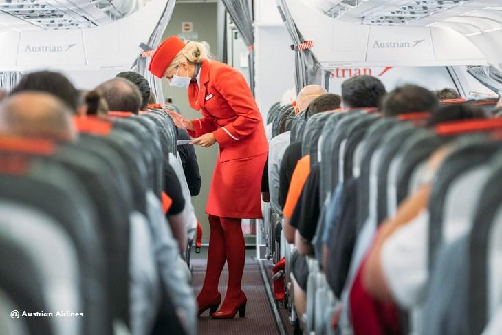 Austrian Airlines ужесточает масочный режим на своих рейсах