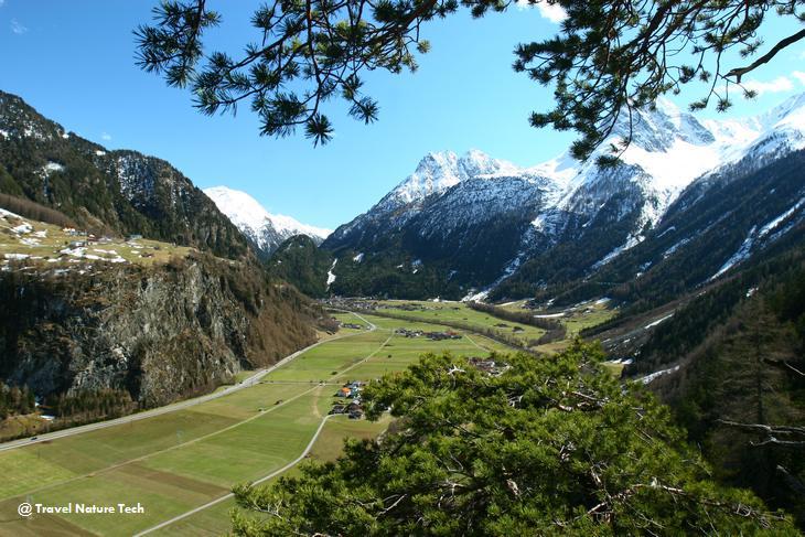 Долина Эцталь с высоты «Чертовой кафедры»