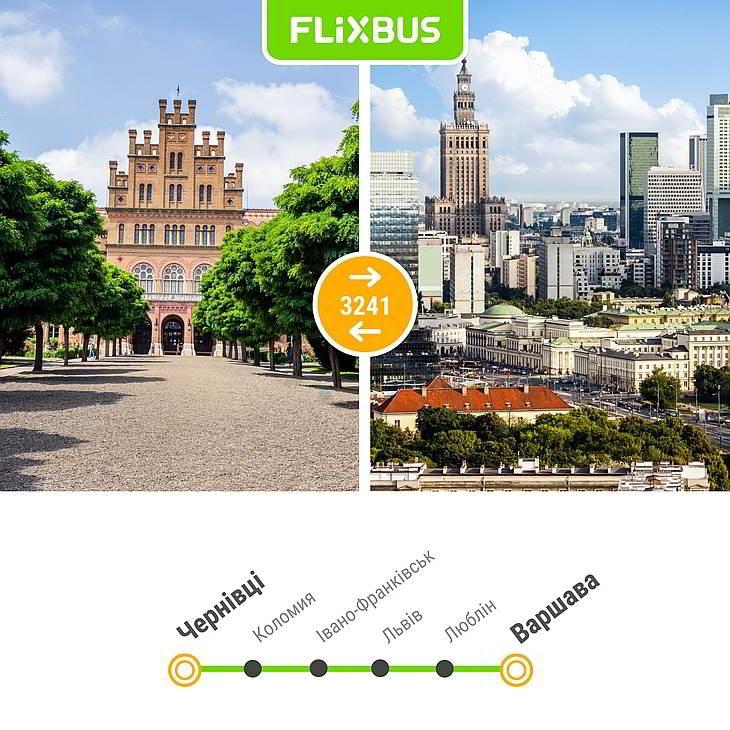 линии Flixbus из Украины