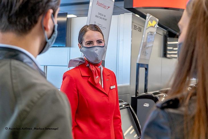 Маска FFP2 обязательна на рейсах Austrian Airlines