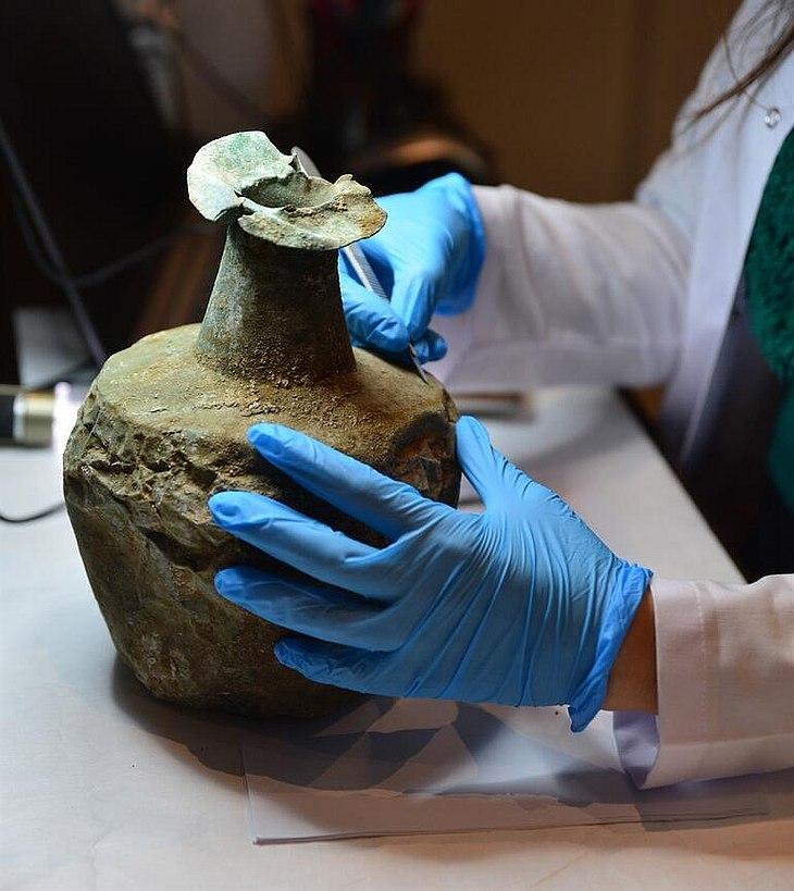 Реставрация в Музее Трои