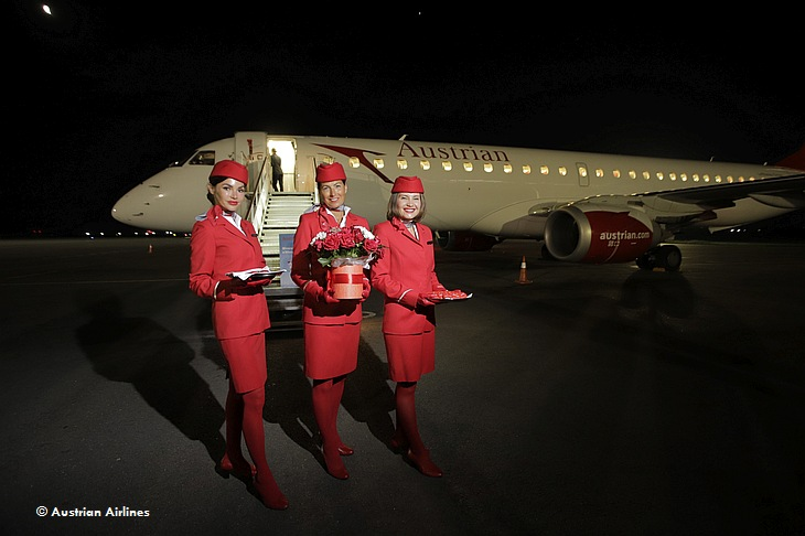 Austrian Airlines открыла маршрут Вена-Запорожье